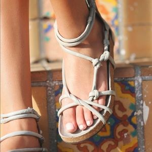 Free People Redlands Gladiator Leather Flat Sandal